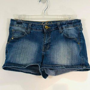 Southpole Woman's Junior Sz 9 Shorts Jean Dungaree